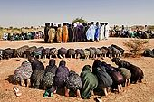 Gerewol festival, Niger. The early morning meeting at which the family elder will organise for the evening dance.