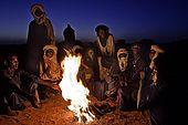 Gerewol festival, Niger. Night camp