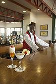 Cocktails at the Tea Factory Hotel bar, Nuwara Eliya, Central Province, Sri Lanka