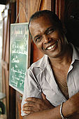 Gary Mathieu, ristorante 'Le Tamariner', Saint-Claude, Guadeloupe (Basse Terre), French West Indies. tel: 0590 800667