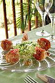 Crevettes de gamberi e sesamo, ristorante 'The Melting Pot', La Coque, Guadeloupe (Basse Terre), French West Indies. tel: 0590 284580