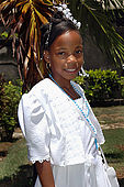 Ragazza dopo la sua prima communione, Guadeloupe, French West Indies