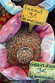 Spezie nel mercato di Sainte-Anne, Guadeloupe (Grande Terre), French West Indies