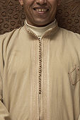 Uniform detail of Riad El Yacout, traditional Moroccan riad, Fes, Morroco. Property released.