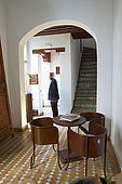 Courtyard interior, Riad Larrousa, traditional Moroccan riad, Fes, Morocco. Property released.