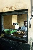 Kitchen of the Assam butchery, meeting place near the Talek Gate of the Masai Mara
