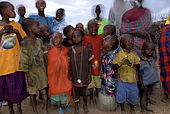 Children of the Masai village