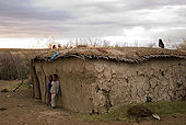 Typical Masai homes made out of mud