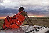 Masai portrait at sunset