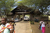 Talek Gate, one of the Park's main entrances, where the Masai women sell traditional handicrafts to tourists