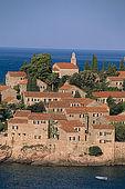 Balkan, Adriatic sea coast    Republic of Montenegro    Near Budva    Island Sveti Stefan    (Saint Steven) Hotel