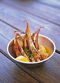 Balkan, Adriatic sea coast    Republic of Montenegro    Perast in Bay of Kotor    restaurant 'The Mill'    grilled (a la plancha) Octopus with herbs