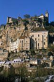 France, Lot, Quercy region village Rocamadour lieu de pélérinage en hiver marché du mardi