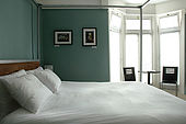 The 4-poster bedroom at 'Brighton Wave' - one of the trendiest Bed and Breakfasts in Brighton