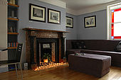 The lounge  at 'Brighton Wave' - one of the trendiest Bed and Breakfasts in Bright