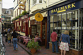 The area of old shops and narrow streets known as 'The Lanes', Brighton
