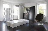 Eero Aarnio Ball Chair in minimalist room