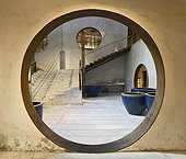 Chinese circular doorway to Chinese courtyard entrance