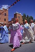 Women at the feast of M'Gouno which marks the end of the rose season. Dades Valley, Morocco
