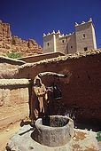 Man taking water from a well, Dades Valley, Morocco
