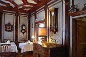 Breakfast room, Garnô Laurino, Cavalese, Trentino, Italy. Tel 0462 340151