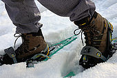 Snow shoes are available for hire at Maso Doss, Pinzolo, Trentino, Italy. Tel 0465 502758