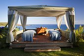 Hawaii, Lanai, Spa Cabana overlooking Manele Bay