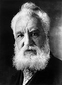 Alexander Graham Bell (1847-1922), US inventor and telephone pioneer. Born in Edinburgh, Bell began his career in assisting his father teach elocution. His first intelligible telephonic transmission with a message to his assistant occurred on 5th Ju [...]