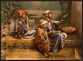 Bedouin beggars and children, Tunis, Tunisia. Date ca. 1899.