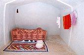 Tunisie - Le Sud - Région du Jebel Dahar - Matmata - maison troglodytique - Intérieur de maison