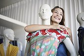 Woman with mannequin