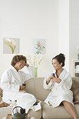 Attractive women relaxing in spa