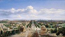 Roger-Viollet | 32854 | VUE DE PARIS PRISE DE L'ARC DE TRIOMPHE DE L'ETOILE - VIEW OF PARIS FROM THE ARC DE TRIOMPHE | © Musée Carnavalet / Roger-Viollet