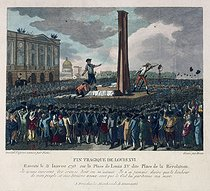 Roger-Viollet | 35822 | Fin tragique de Louis XVI exécuté le 21 janvier 1793 sur la place Louis XV dite place de la Révolution | © Musée Carnavalet / Roger-Viollet