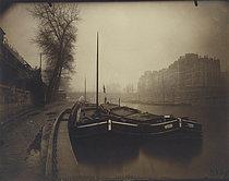 Roger-Viollet | 39061 | The quays (Winter). Paris, 1923. Photograph by Eugène Atget (1857-1927). Paris, musée Carnavalet. | © Eugène Atget / Musée Carnavalet / Roger-Viollet
