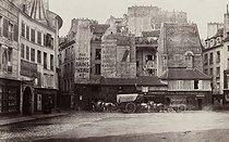 Roger-Viollet | 39412 | Place Saint-André-des-Arts. Paris (VIth arrondissement), 1865-1868. Photograph by Charles Marville (1813-1879). Paris, musée Carnavalet. | © Charles Marville / Musée Carnavalet / Roger-Viollet