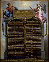 Roger-Viollet | 40839 | DECLARATION DES DROITS DE L'HOMME | © Musée Carnavalet / Roger-Viollet