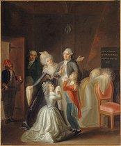 Roger-Viollet | 57735 | LES ADIEUX DE LOUIS XVI A SA FAMILLE LE 20 JANVIER 1793 | © Musée Carnavalet / Roger-Viollet