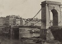 Roger-Viollet   81502   View of the Pont de la Réforme and the quai des Ormes.   © Musée Carnavalet / Roger-Viollet