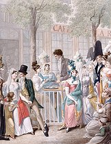 Roger-Viollet | 93345 | LE CAFE DE LA ROTONDE AU PALAIS-ROYAL | © Musée Carnavalet / Roger-Viollet