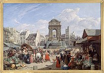 Roger-Viollet | 97420 | THE MARKET AND THE INNOCENTS FOUNTAIN | © Musée Carnavalet / Roger-Viollet