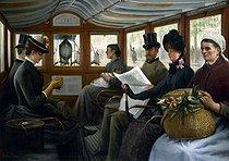Roger-Viollet | 105566 | Dans l'omnibus | © Musée Carnavalet / Roger-Viollet