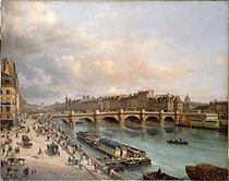 Roger-Viollet | 114604 | La Cité et le Pont-Neuf vus du quai du Louvre | © Musée Carnavalet / Roger-Viollet