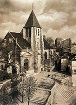 Roger-Viollet   125829   SAINT-GERMAIN-DE-CHARONNE CHURCH   © Eugène Atget / Musée Carnavalet / Roger-Viollet