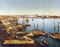 Roger-Viollet | 160011 | The Suez port (Egypt), late 19th century. | © Roger-Viollet / Roger-Viollet