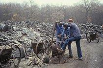 Roger-Viollet | 180860 | Migrant workers at the Remetal factory. Saint-Arnoult-en-Yvelines (France), 1983. | © Georges Azenstarck / Roger-Viollet