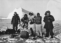 Roger-Viollet | 182406 | Americans and Inuits in North Greenland, near Thulé. | © Roger-Viollet / Roger-Viollet