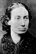 Roger-Viollet | 185733 | Louise Michel (1830-1905), French revolutionary who joined the Paris Commune, in 1871. J. M. Lopez's picture. | © Albert Harlingue / Roger-Viollet
