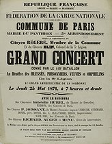 Roger-Viollet | 189141 | French Republic. Federation of the French National guard. Paris Commune (1871). Big concert at the town hall of the Panthéon | © BHVP / Roger-Viollet