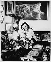 Roger-Viollet | 221839 | Alice Sapritch (Alice Sapric, 1916-1990), Armenian-born French actress. Paris, 1977. | © Bruno de Monès / Roger-Viollet